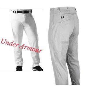 Three Pair Under Armour 2XL White Baseball Pants